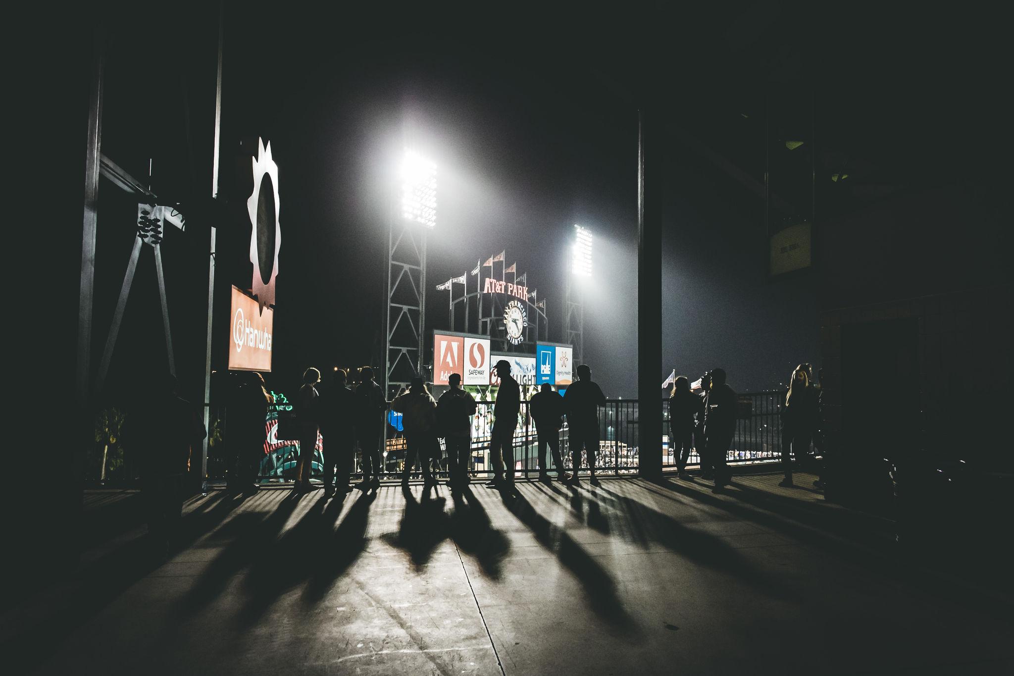 Busy ballpark